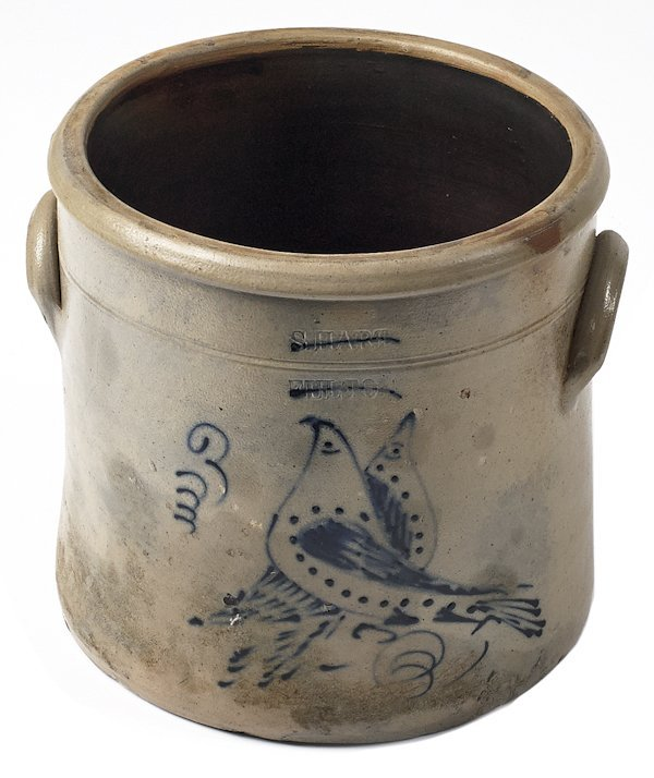 New York stoneware crock, 19th c., impressed S