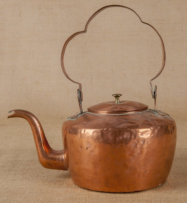 Lancaster, Pennsylvania copper teapot, early 19t