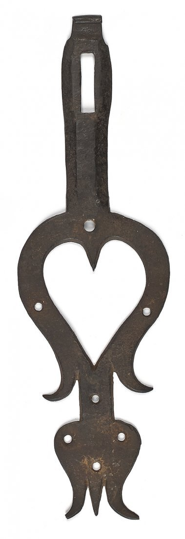 Pennsylvania wrought iron hasp, ca. 1800, with