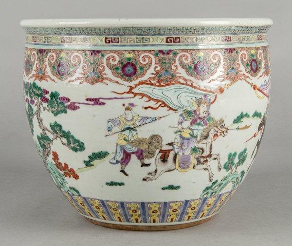 Chinese export rose mandarin porcelain planter,