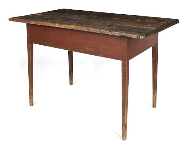Pennsylvania painted pine farm table, early 19th