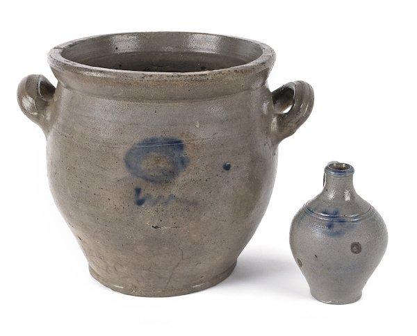 New Jersey stoneware crock, early 19th c. attribu