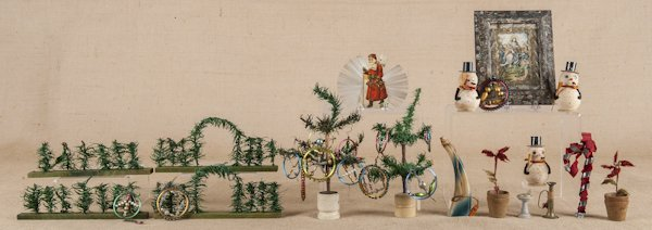 Collection of Christmas feather trees, feather fe