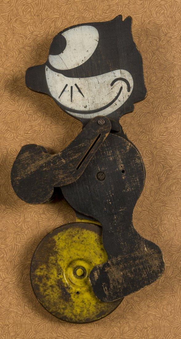 Felix the Cat wooden push toy, 13 1/2'' h.