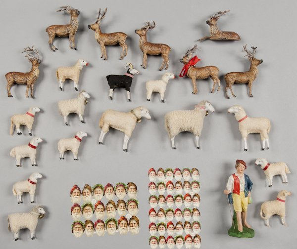 Group of stick leg sheep, together with seven Ger