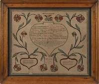Lebanon Pennsylvania printed and hand colored fr