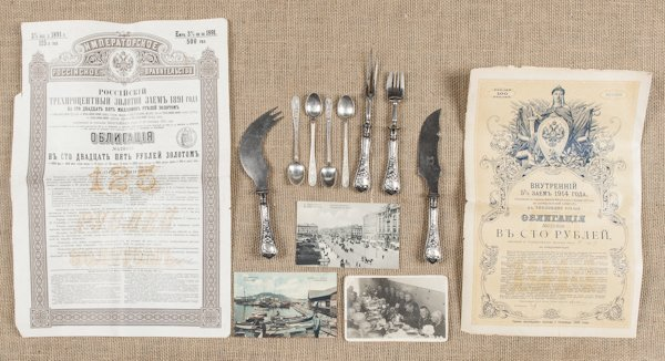 Russian silver flatware by Pavlovo Artel, to incl