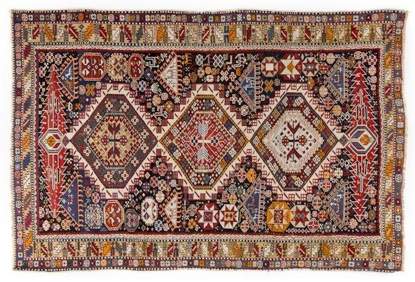 Shirvan carpet, ca. 1910, 6'2'' x 4'.