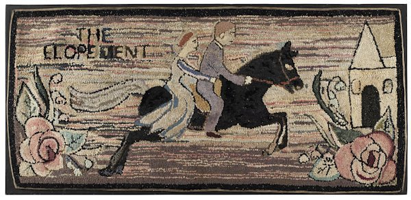 James L. and Mercedes Hutchinson hooked rug of a