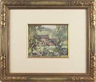 Jane Peterson American 18761965 gouache lan