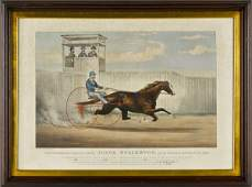 Currier and Ives color lithograph titled Judge