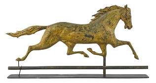 New England full-bodied copper running horse wea