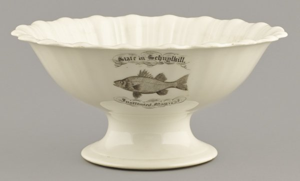Ironstone State in Schuylkill centerpiece bowl,