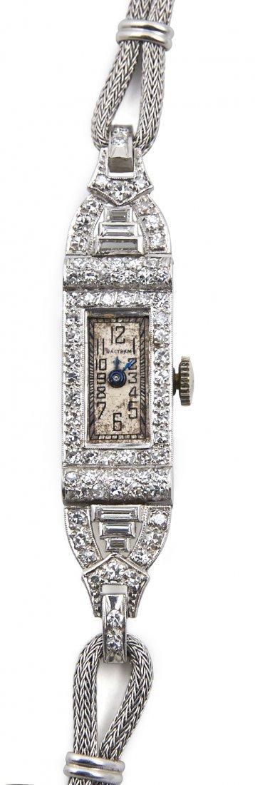 Lady's Waltham wristwatch with a rectangular case