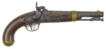 US model 1842 Johnson percussion pistol 54 ca