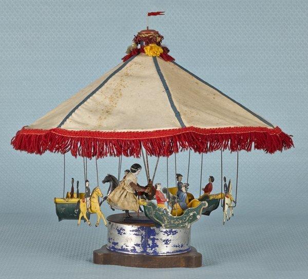 Althof Bergmann tin clockwork carousel