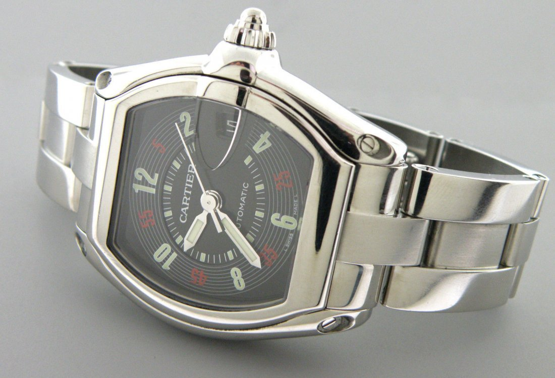 CARTIER ROADSTER LARGE MENS AUTOMATIC STAINLESS WATCH
