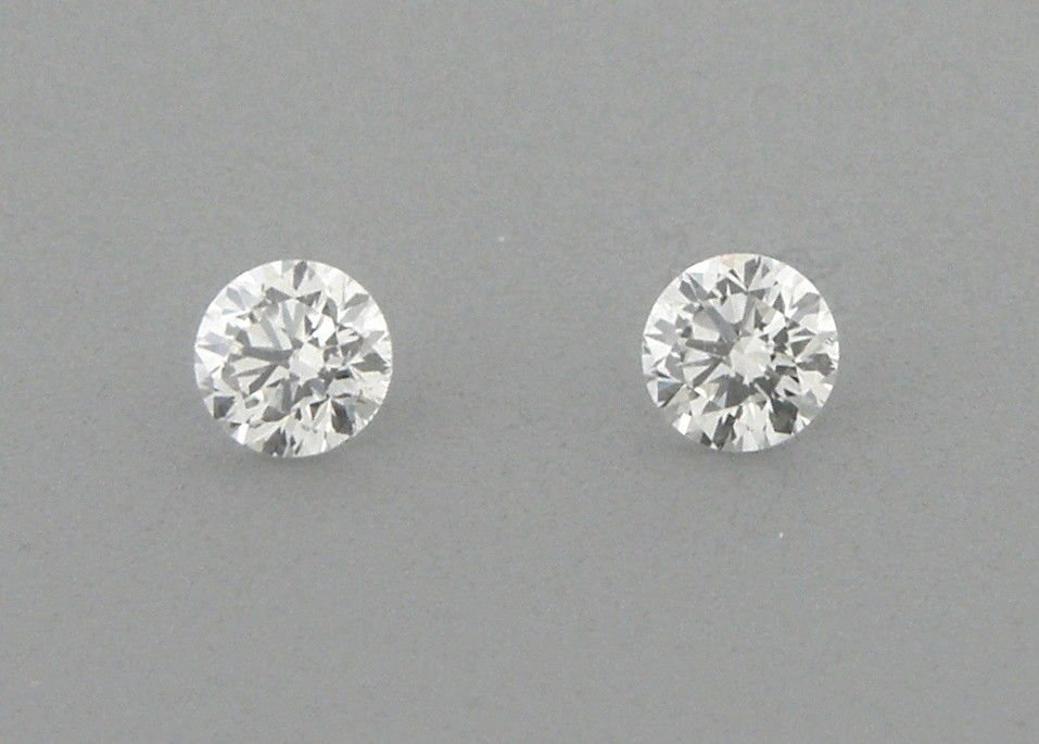 4.4mm MATCHING PAIR BRILLIANT ROUND CUT LOOSE G VS