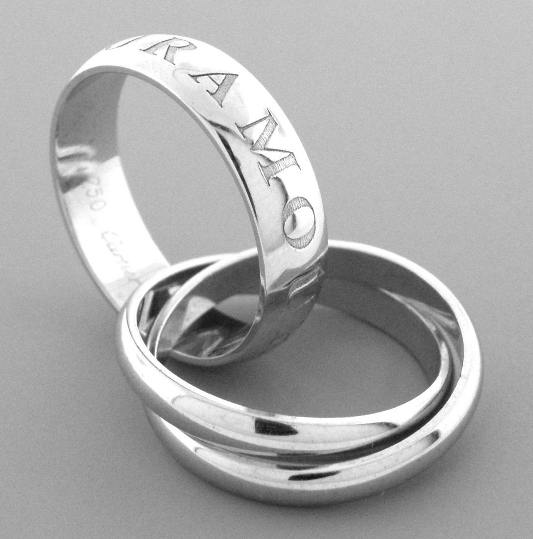 CARTIER 18K WHITE GOLD RING ET AMOUR TRINITY RING - 2