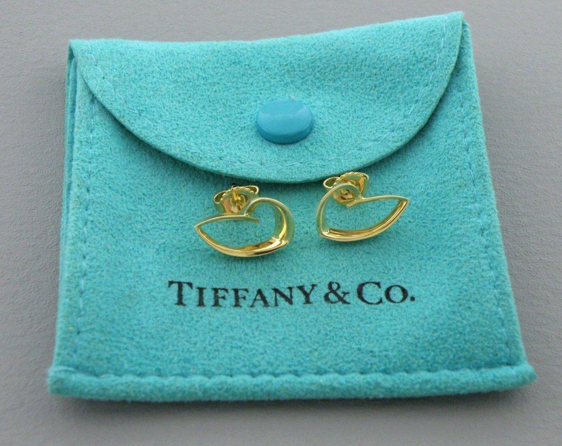 TIFFANY & Co. 18K GOLD FRANK GEHRY HEART EARRINGS