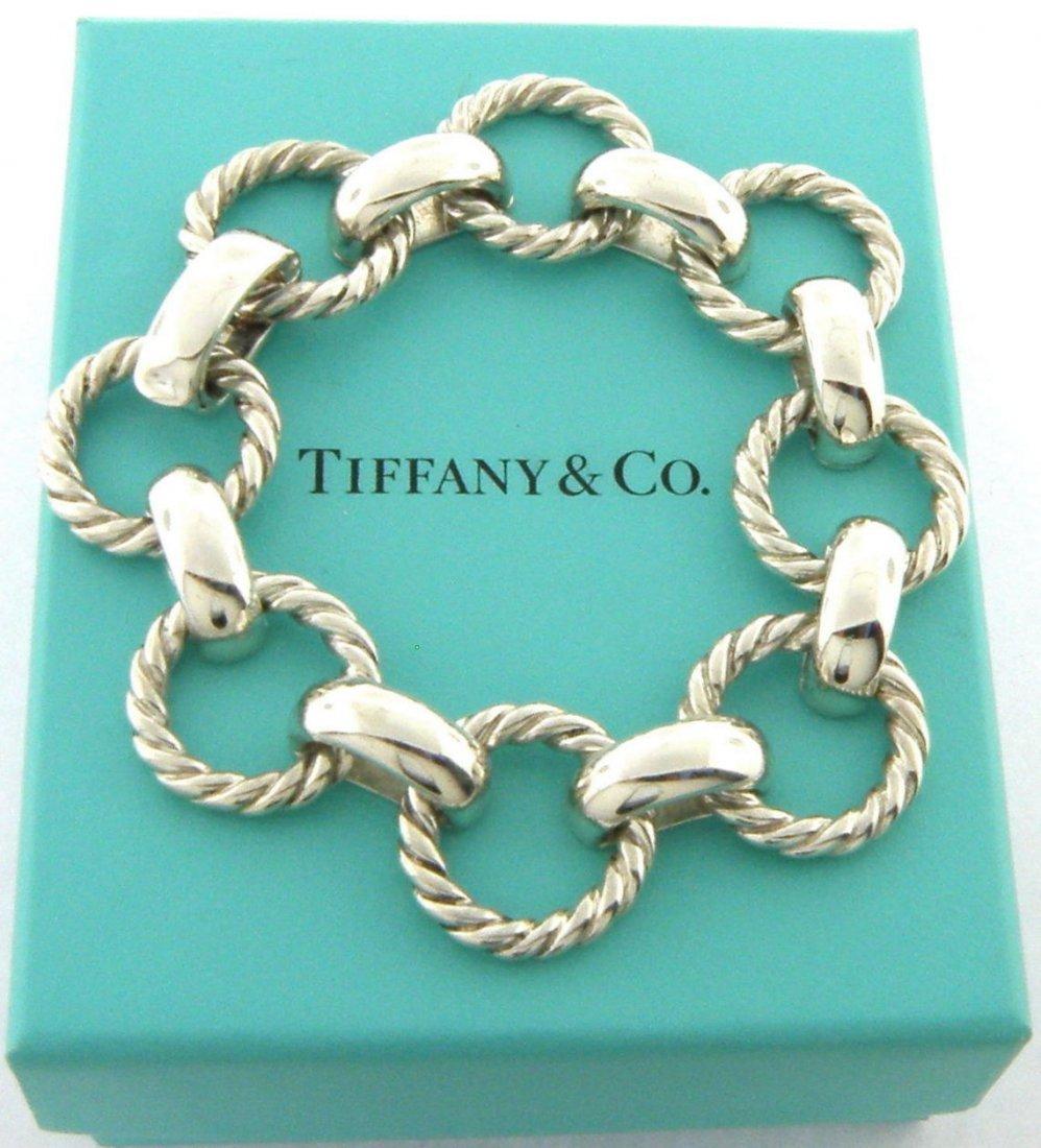 TIFFANY & Co. STERLING SILVER TWIST ROPE BRACELET