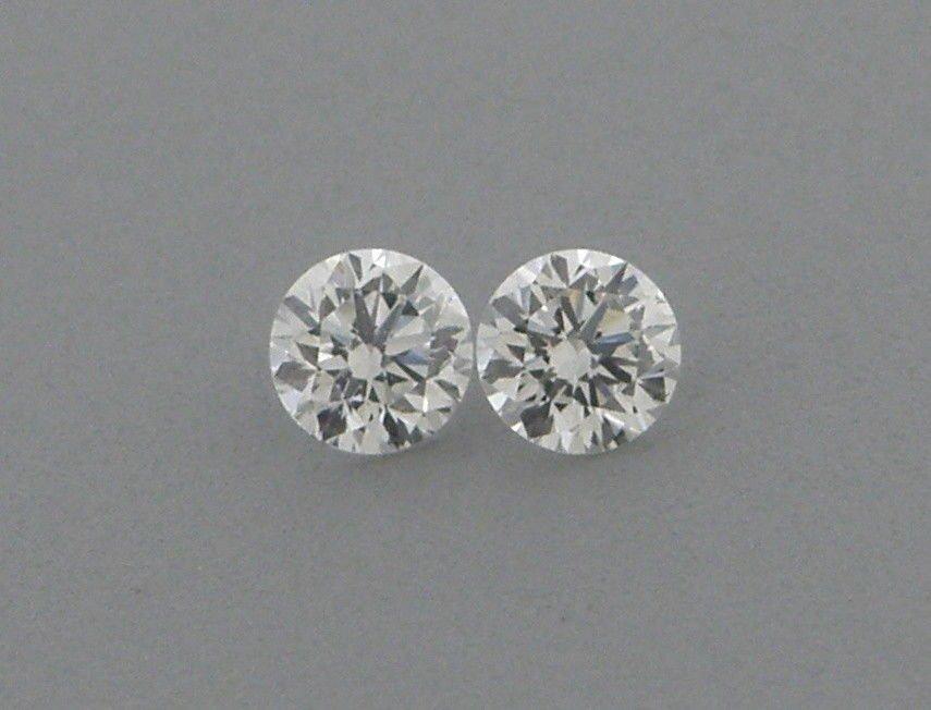 3.7mm MATCHING PAIR BRILLIANT ROUND CUT DIAMOND G VS2