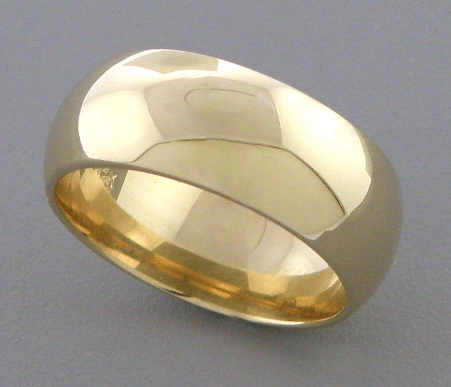 14K YELLOW SOLID GOLD 7MM COMFORT BAND WEDDING RING 7