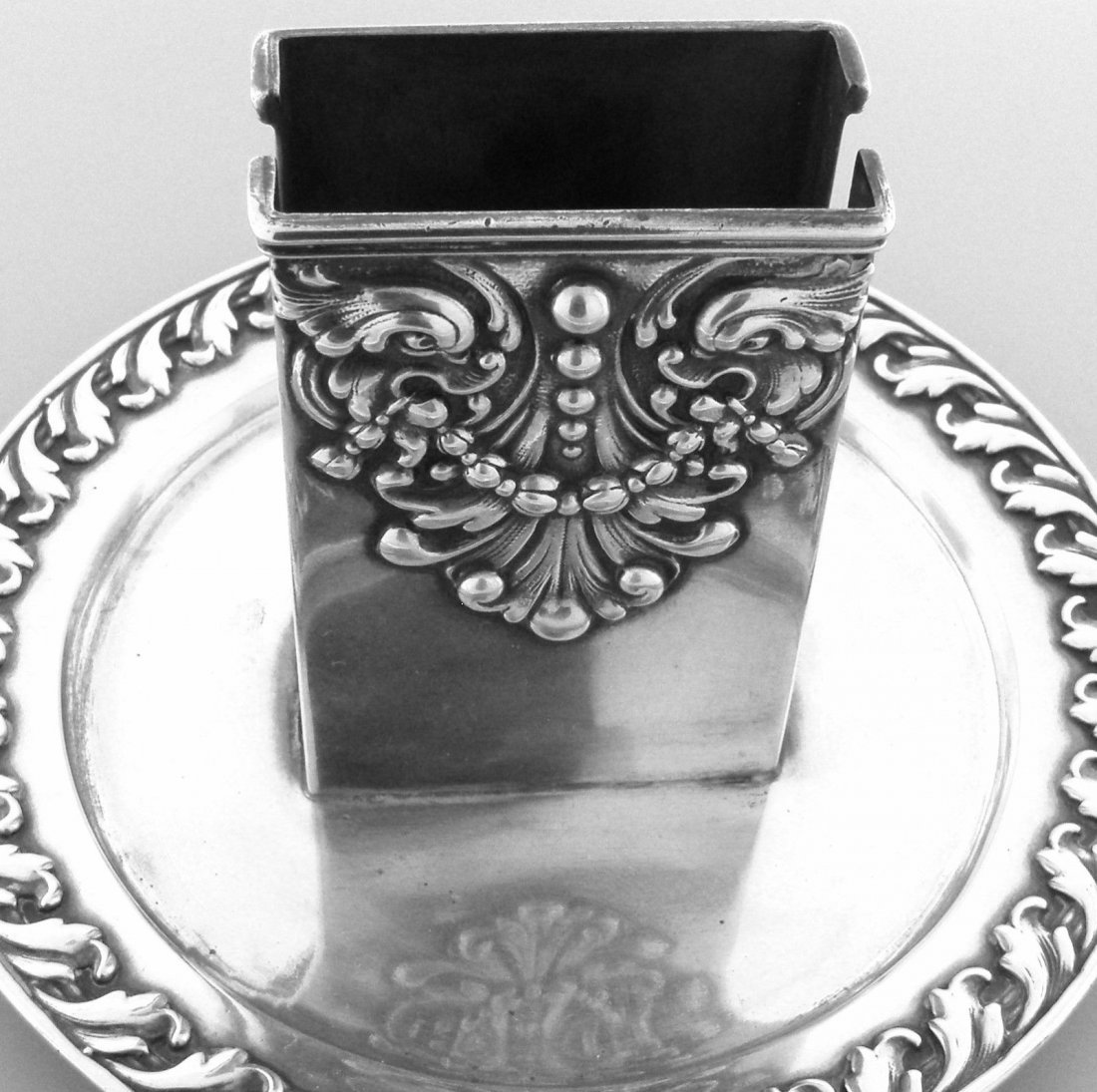 VINTAGE TIFFANY & Co. STERLING MATCHBOX CANDLE HOLDER