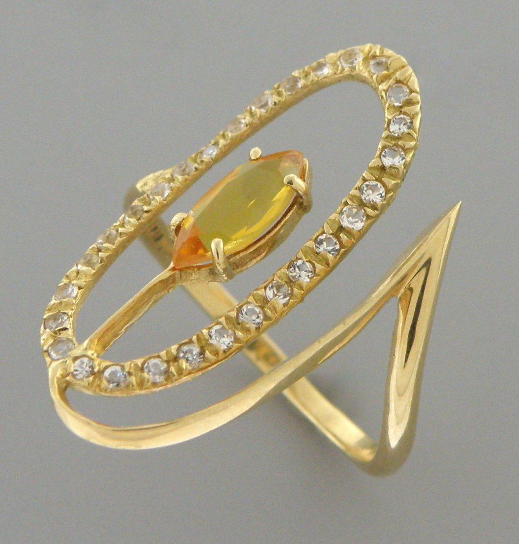 VINTAGE 14K YELLOW GOLD OLD MINE CUT DIAMOND RING