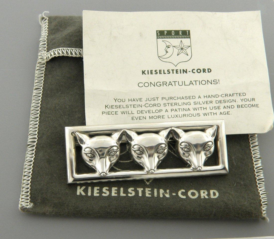 KIESELSTEIN CORD STERLING SILVER 3 FOX BROOCH PIN