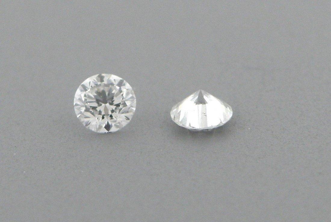 3.3mm MATCHING PAIR BRILLIANT ROUND DIAMOND G VS2