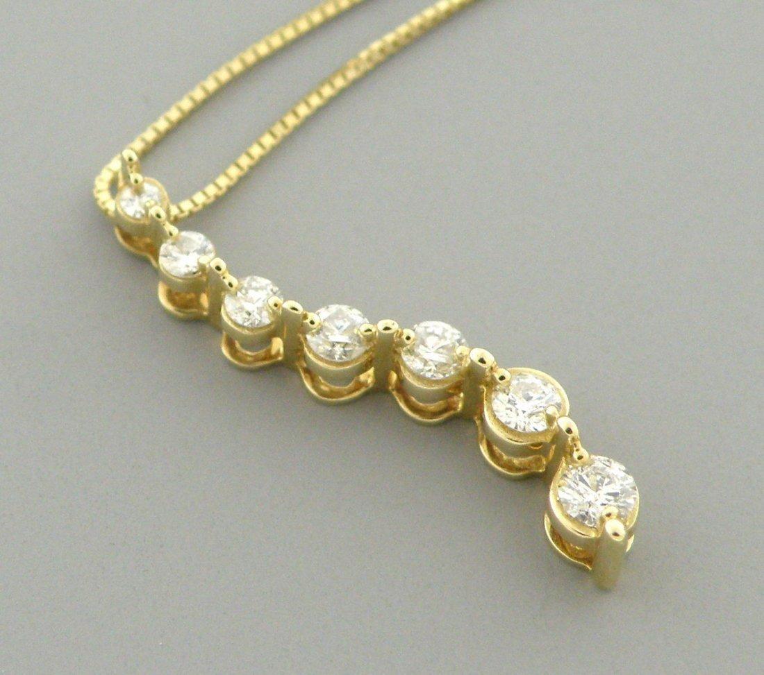 NEW 14K YELLOW GOLD LADIES DIAMOND JOURNEY NECKLACE .33