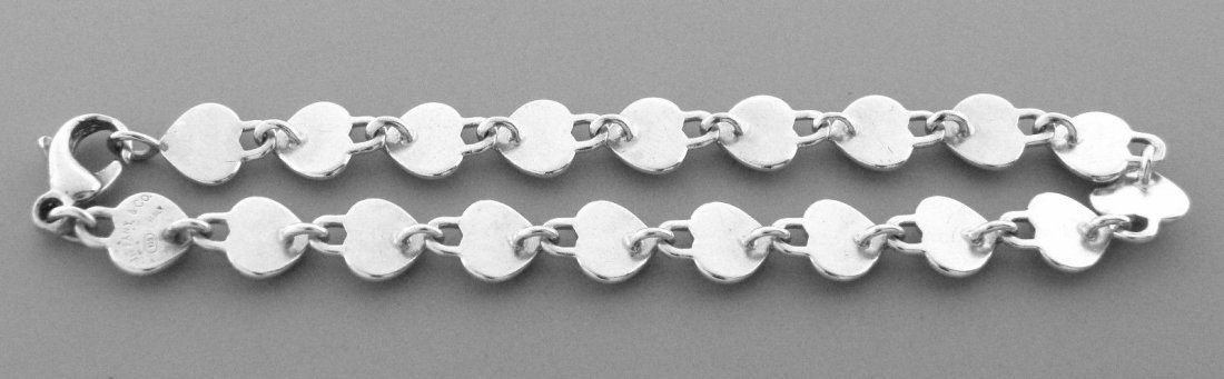 TIFFANY & Co. STERLING SILVER PADLOCK HEART BRACELET - 2