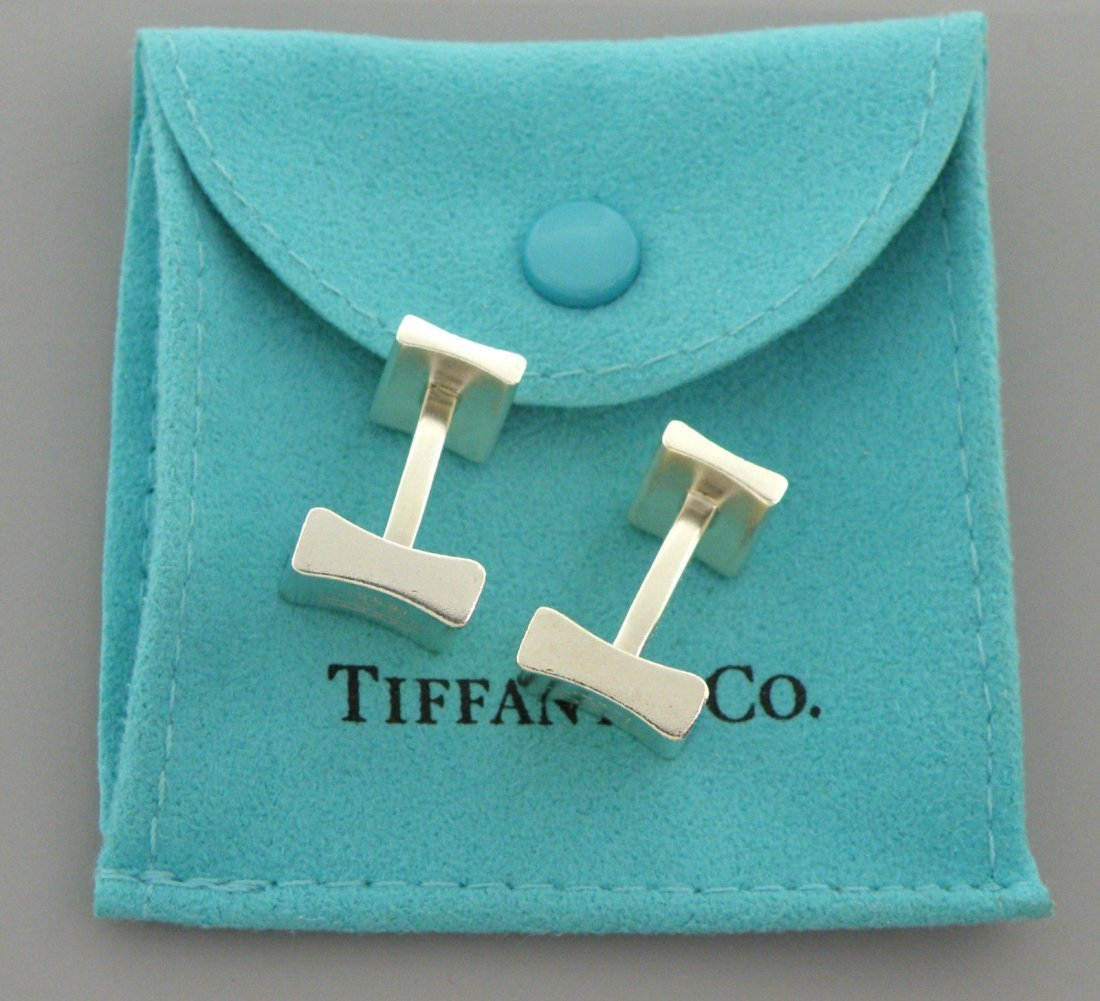 TIFFANY & Co. STERLING SILVER 1837 SQUARE CUFFLINKS