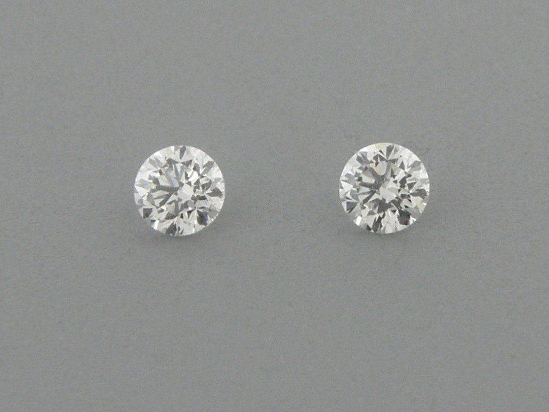 3.1mm MATCHING PAIR ROUND UNTREATED DIAMOND G VS2