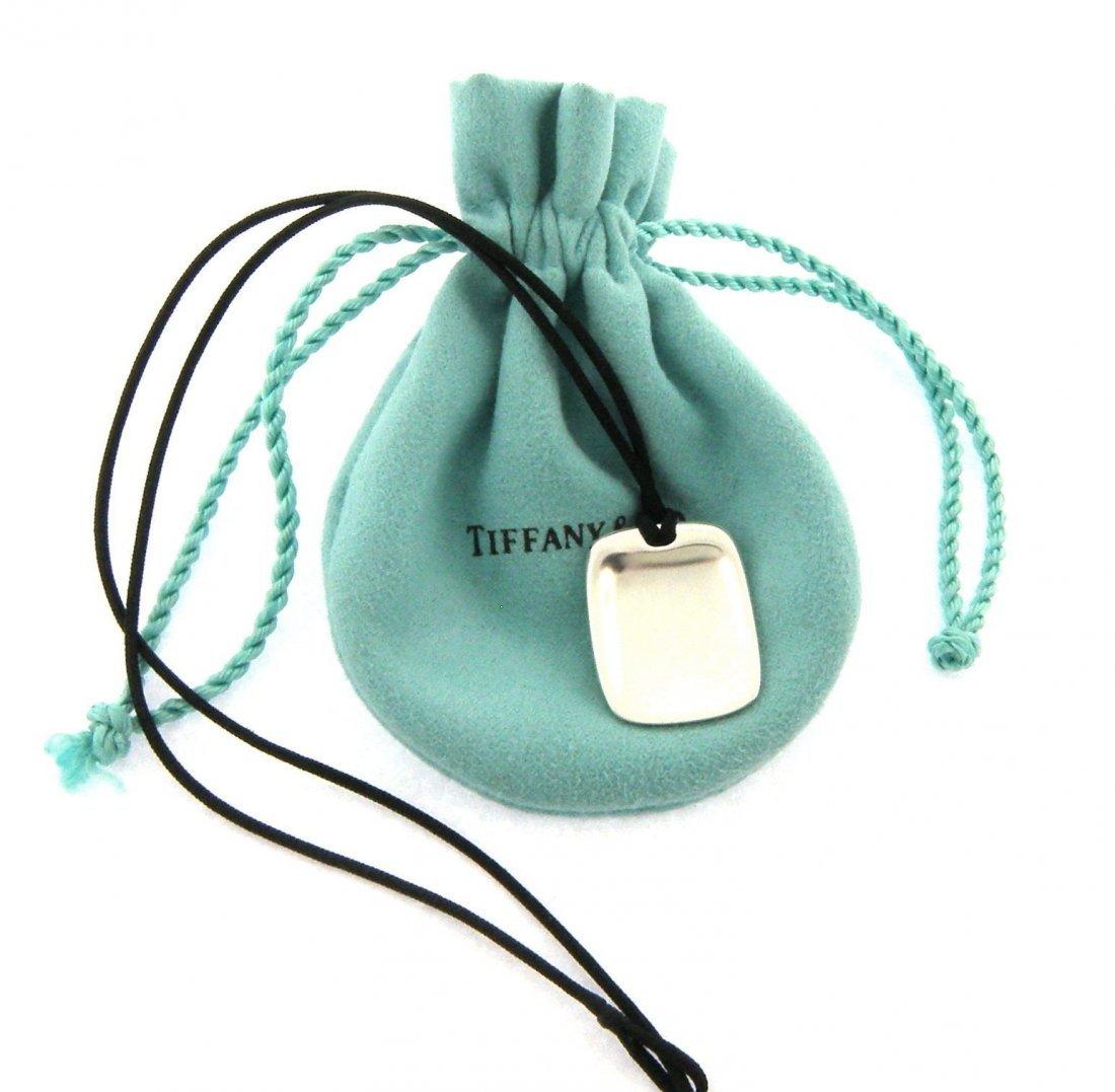 TIFFANY & Co. STERLING SILVER SQUARE CORD NECKLACE