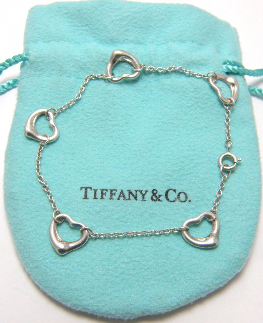 TIFFANY & Co. SILVER PERETTI 5 HEART BRACELET