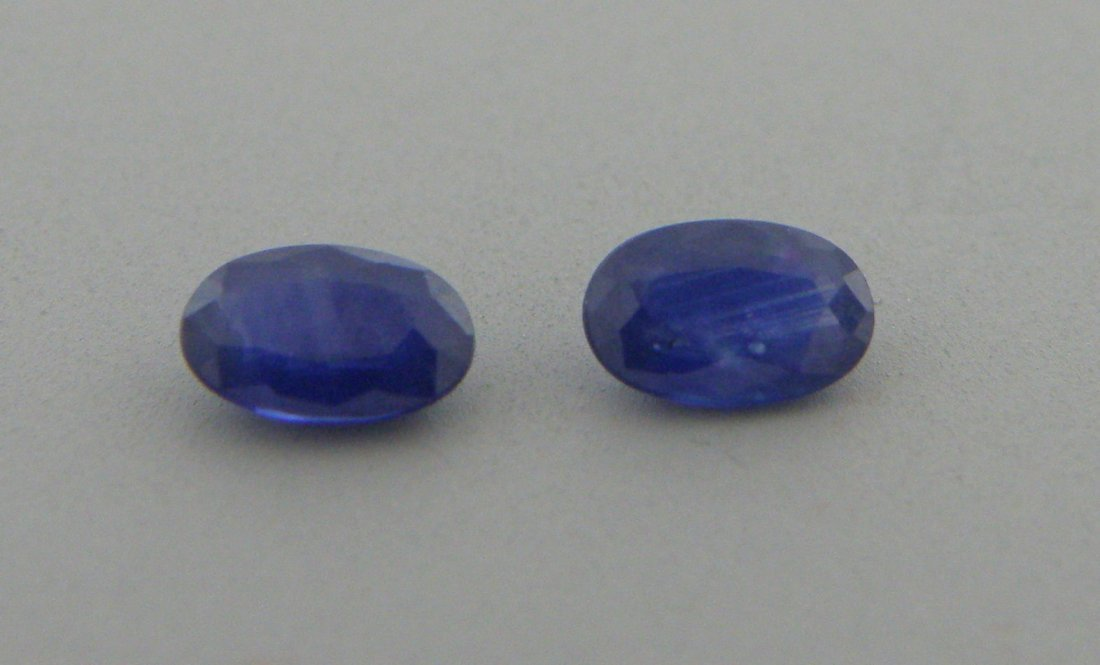 5x3mm MATCHING PAIR OVAL LOOSE NATURAL BLUE SAPPHIRE