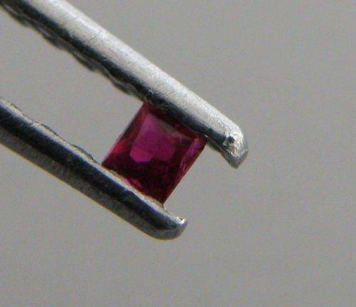 2.8mm PRINCESS CUT NATURAL UNTREATED PIGEON BLOOD RUBY