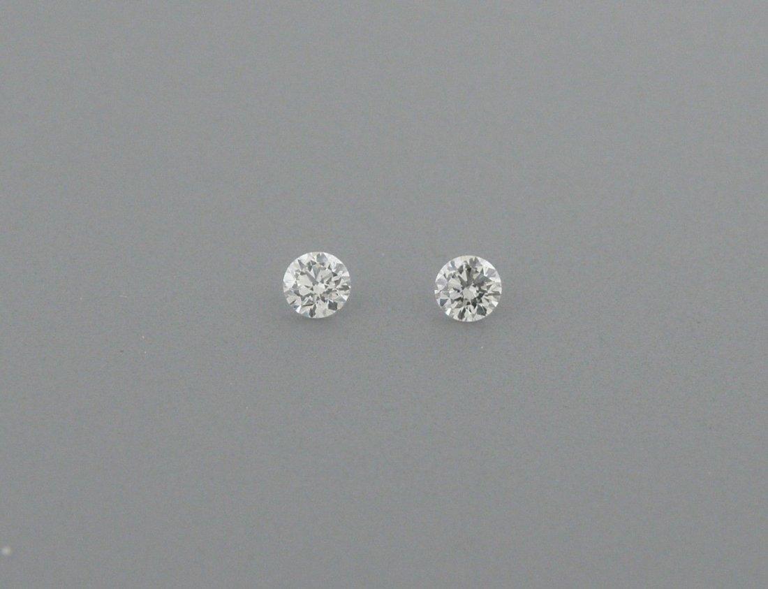 1.6mm MATCHING PAIR BRILLIANT ROUND DIAMOND G VS2