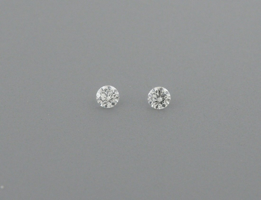 1.4mm MATCHING PAIR BRILLIANT ROUND CUT DIAMOND G VS2
