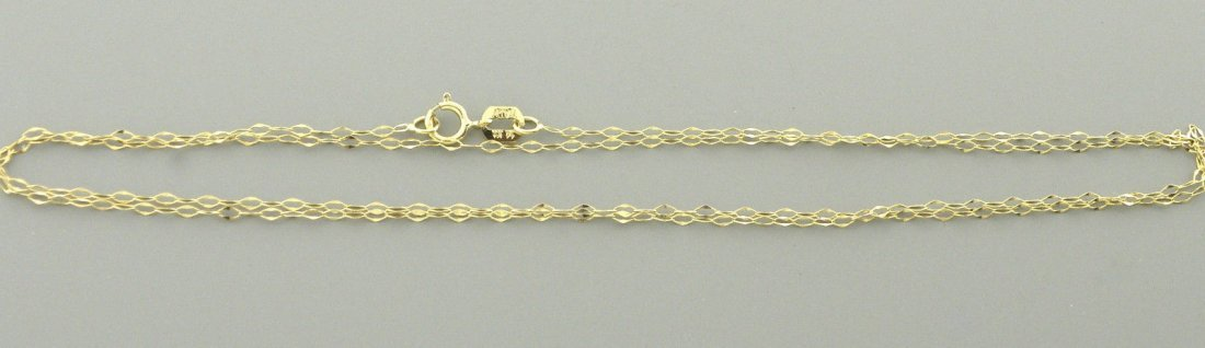 "NEW 14K YELLOW GOLD CABLE CHAIN, 18"" NECKLACE ITALY - 2"