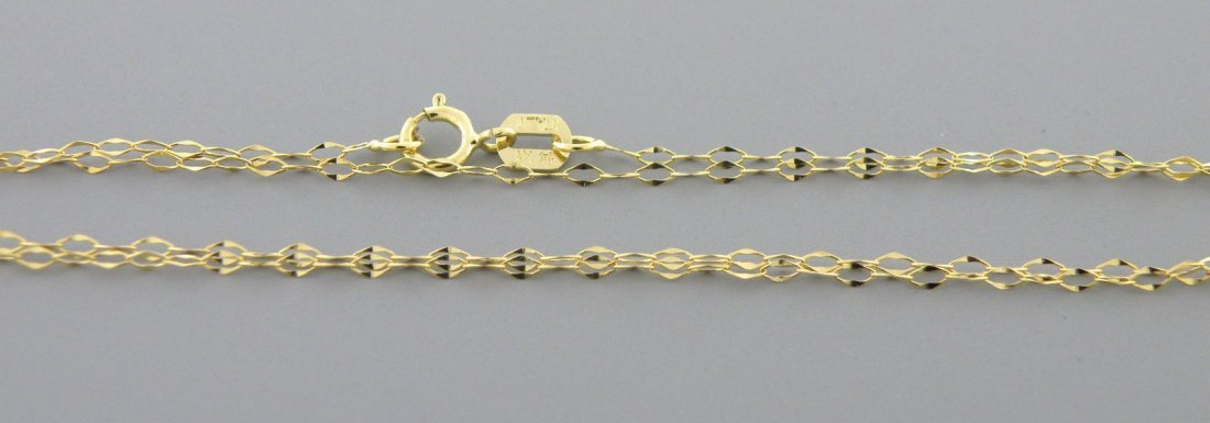 "NEW 14K YELLOW GOLD CABLE CHAIN, 16"" NECKLACE ITALY"