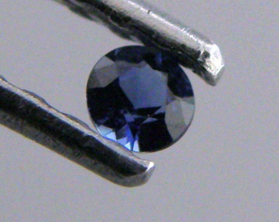 2.5mm LOOSE ROUND CUT NATURAL UNTREATED BLUE SAPPHIRE