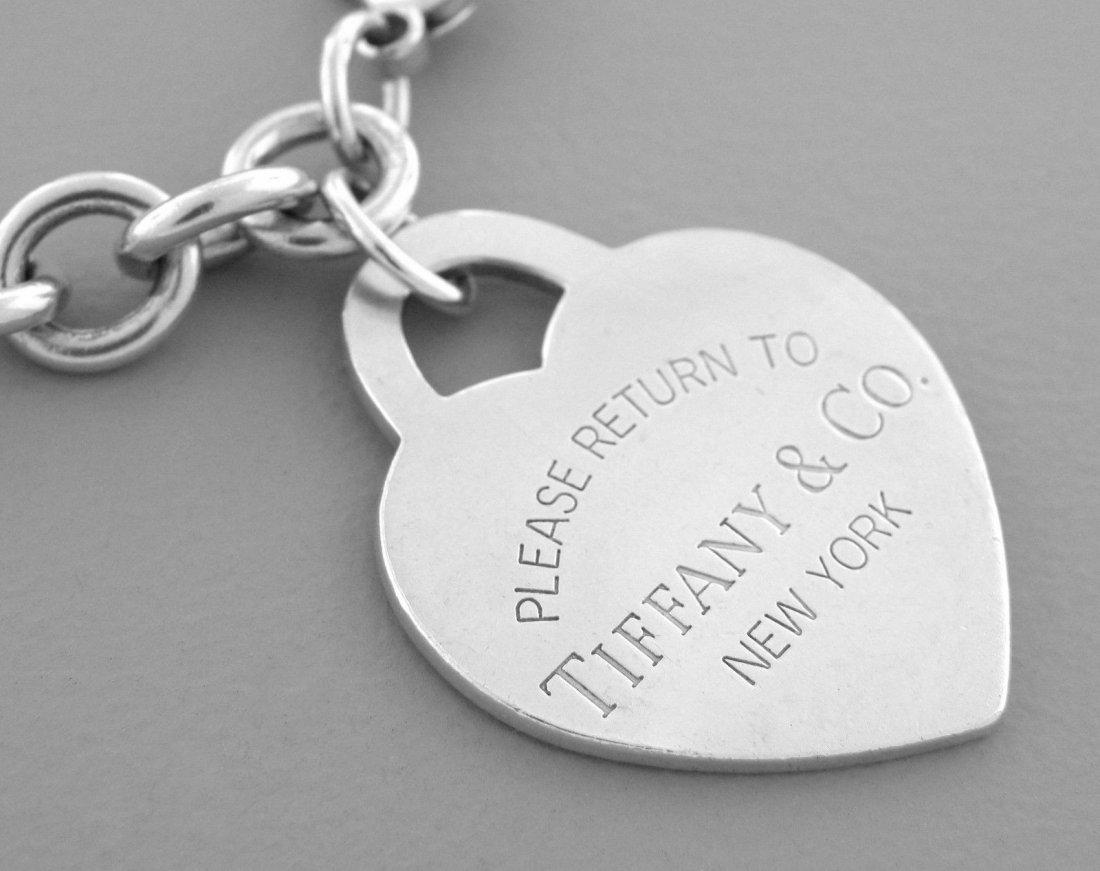 TIFFANY & Co. STERLING RETURN TO. XL HEART BRACELET