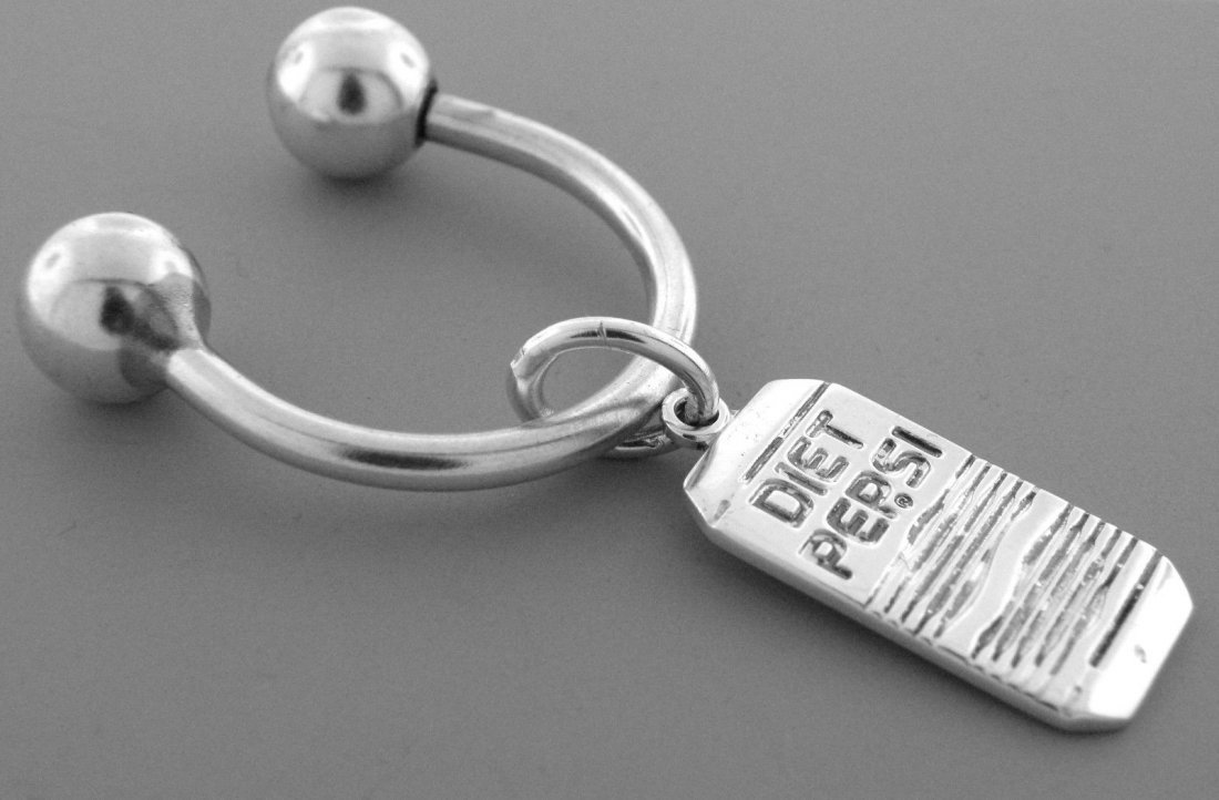 VINTAGE TIFFANY & Co. STERLING DIET PEPSI CAN KEYRING