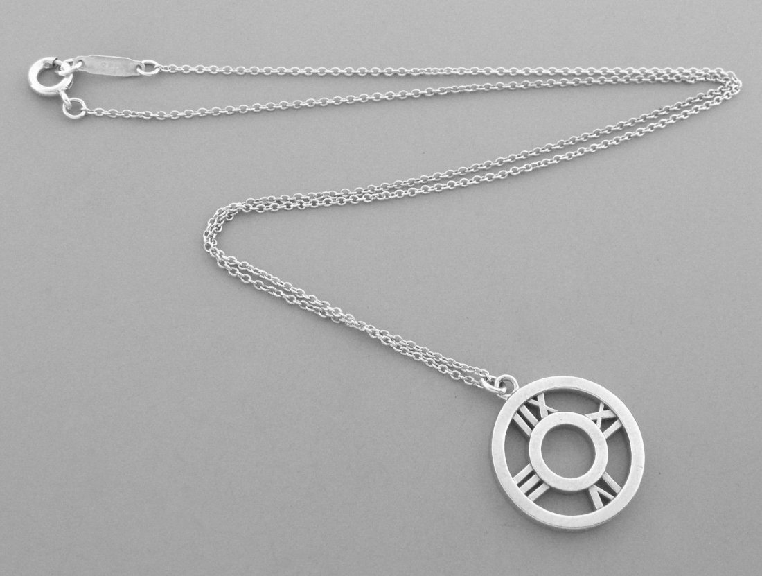 TIFFANY & Co. STERLING SILVER ATLAS ROUND NECKLACE - 2