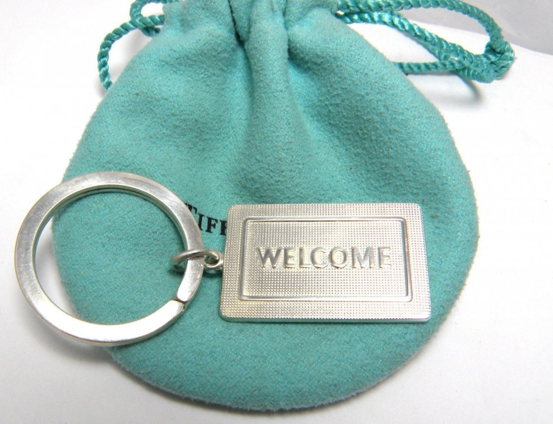 TIFFANY & Co. STERLING SILVER WELCOME MAT KEYRING