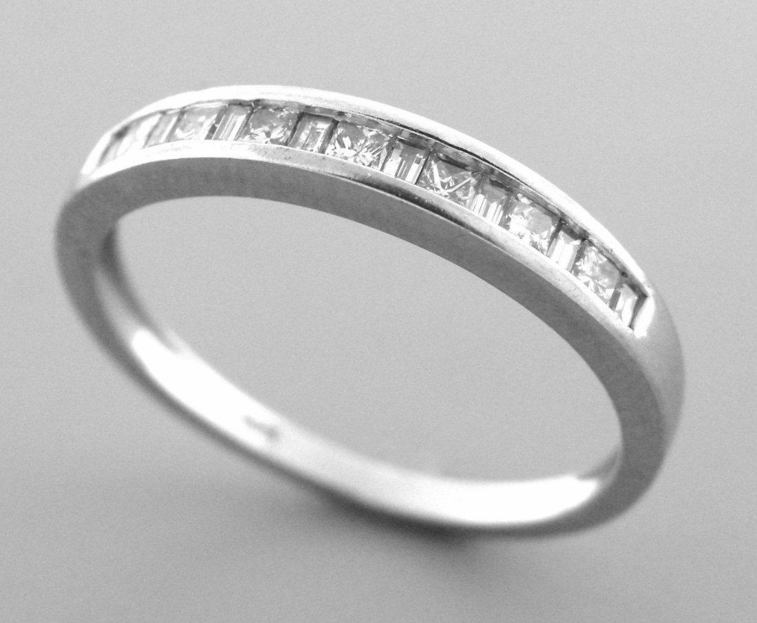 14K WHITE GOLD LADIES DIAMOND RING WEDDING BAND PRINCES
