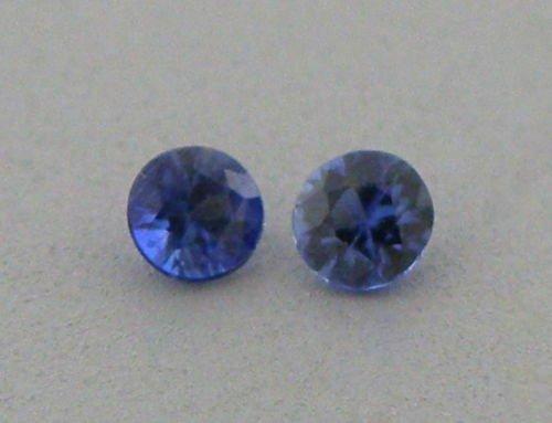 3.5mm MATCHING PAIR ROUND CUT NATURAL BLUE SAPPHIRE